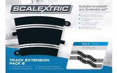 SCALEXTRIC Track Extension Pack 6 R3x8ea Curves - C8555