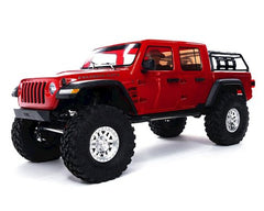 AXIAL SCX10 III Red Jeep JT Gladiator Rock Crawler with Spektrum DX3 2.4Ghz Radio - AXI03006T2