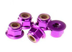 ANSMANN 3mm Flanged Nyloc Nut Purple Alum. 10pcs - C203000037