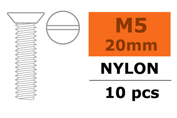 Countersunk screw, M5X20, Nylon (5pcs) GF-0311-012