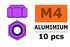Nylstop nut M4 Purple, Aluminium (10pcs) GF-0400-042