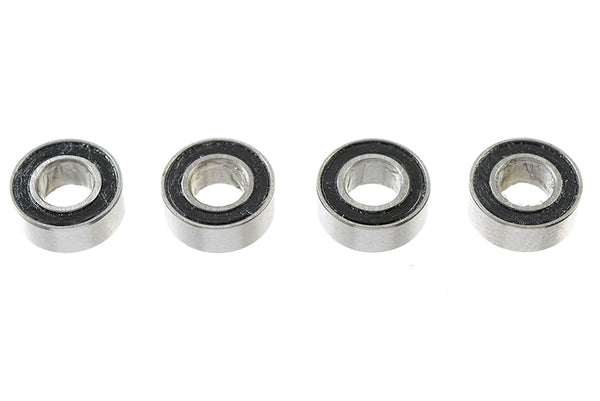 Chrome Ball Bearing ABEC 3, rubber shielded , 4X8X3 - MR84-2RS, (4 pcs) GF-0500-003