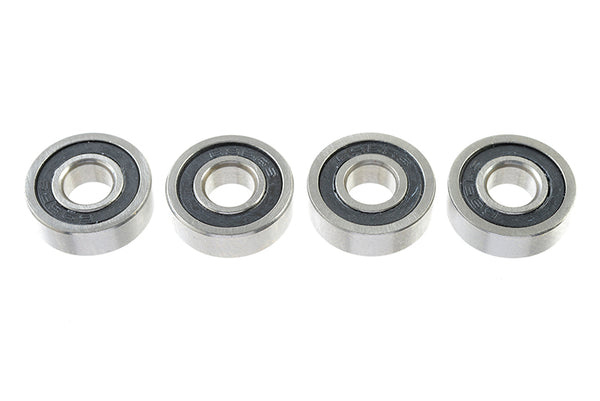 Chrome Ball Bearing ABEC 3, rubber shielded , 5X13X4 - 695-2RS, (4 pcs) GF-0500-008