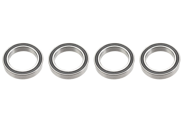 Chrome Ball Bearing ABEC 3, rubber shielded , 15X21X4 - MR6702-2RS, (4 pcs) GF-0500-026