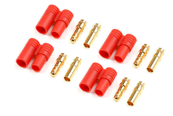 3.5mm Gold connector with plastic housing (4pcs) GF-1001-002