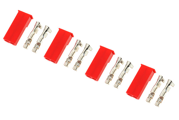 BEC connector with gold plated pins, Male (4pcs) GF-1010-002