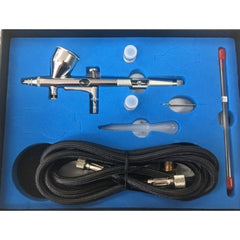 VISION Hobby Airbrush Kit Dual Action Gravity Feed with Hose - NHDU-80K