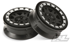 PROLINE Impulse 1.9in Black/Silver Fr/Rr Beadlock Wheels 2pcs - PR2769-13