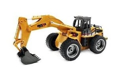 HUINA 1:18 Excavator with Wheels, 2.4Ghz Radio, Battery and USB Charger - SFMHN1530