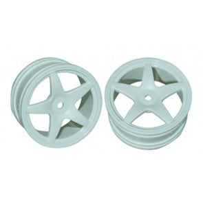 GV 5 Spoke White Wheels 12mm Hex suit 1:10 Onroad 2pcs - V2370W