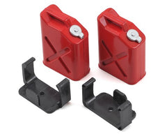 YEAH RACING 1:10 2x Red Jerry Cans with Mounts - YEA-YA-0355