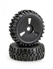 ABSIMA 1:8 Buggy Wheel and Tyre Set Black Disc:Dirt Tyre - AB2520018