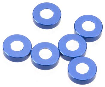AXIAL CONE WASHER 3X6.9X2MM 6PCS BLUE AXA1103