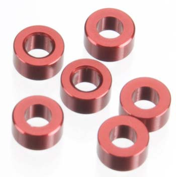 AXIAL 3X6MM SPACER RED 6PCS AXA1338