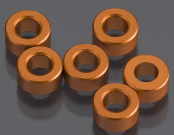 AXIAL 3X6MM SPACER ORANGE 6 PCS AXA1352