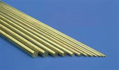 K AND S SOLID BRASS ROD (12in LENGTHS) 1/32in (5 RODS PER CARD) - KS8160
