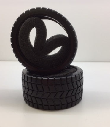 GV 1:10 Onroad Rubber Tyres with Foams 2pcs - CB372