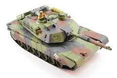 HOBBY ENGINES M1A1 Abrams Tank, with 2.4Ghz Radio, Water Resistant - HE0811