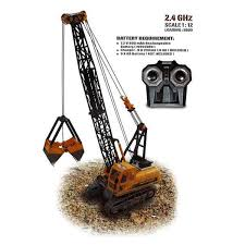 HOBBY ENGINES CONSTRUCTION CRAWLER CRANE with 2.4Ghz Radio Gear, Nimh Battery & Charger - HE0805