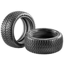 James Racing Dot Evo 1/8 Buggy Tyres w/ Moulded Foam - M2 Medium - J08B02S3I