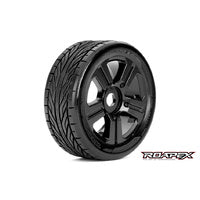 TRIGGER Wheel & Tyre Black suit 1:8 Buggy - R5001-B