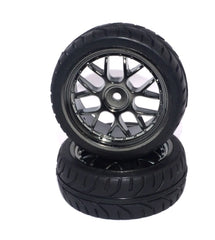 RCG Onroad Wheel with Rubber Tyre 2pcs - RCG-ONRWHLTYR