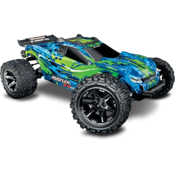 TRAXXAS RUSTLER 4WD VXL with TQi 2.4Ghz Radio and TSM - 67076-4GRN