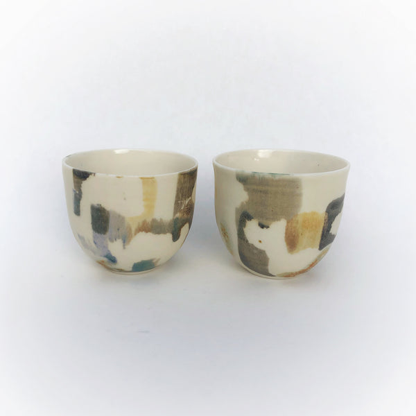french coffee cups in 'paintbox'