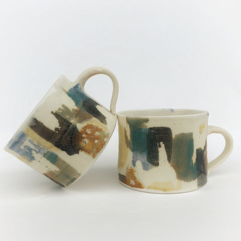 NEW paintbox mugs in porcelain