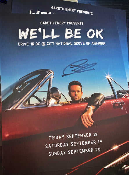 Signed We'll Be OK Tour Poster