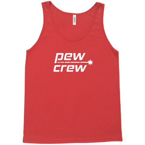 Pew Crew Red Tank Top