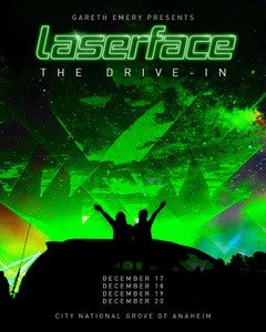 Signed Laserface Drive-In Tour Poster