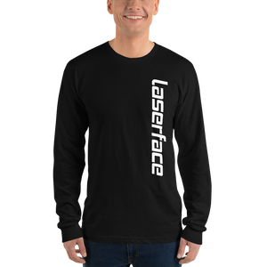 Black Unisex Laserface Long Sleeve Shirt