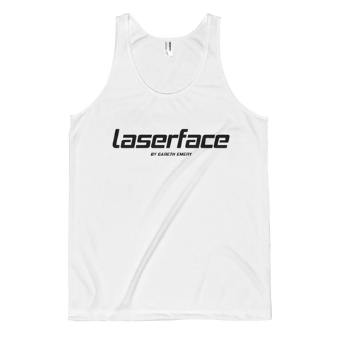 Men's LF Black on White Tank Top