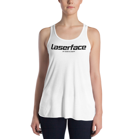 Women's LF Black on White Tank Top