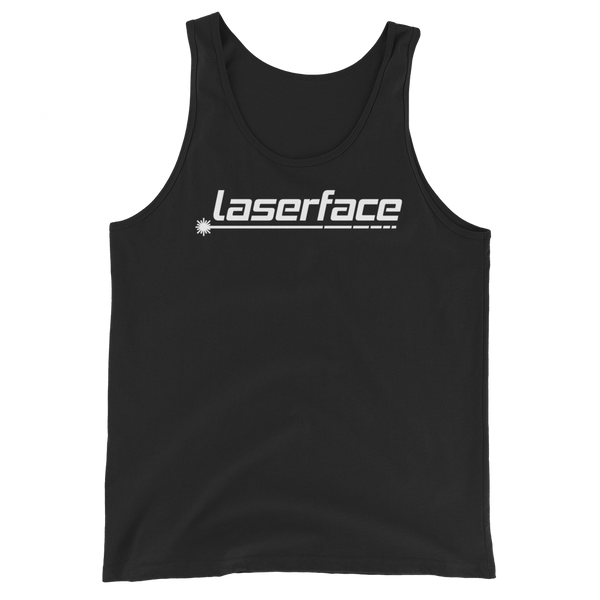 LF White on Black Unisex Tank Top