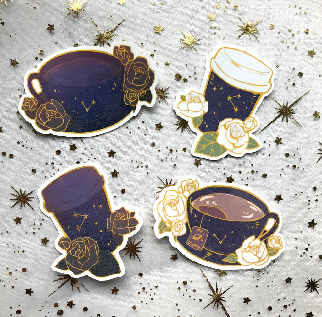 Galaxy Beverage | Stickers - Aurigae Art &Illustration