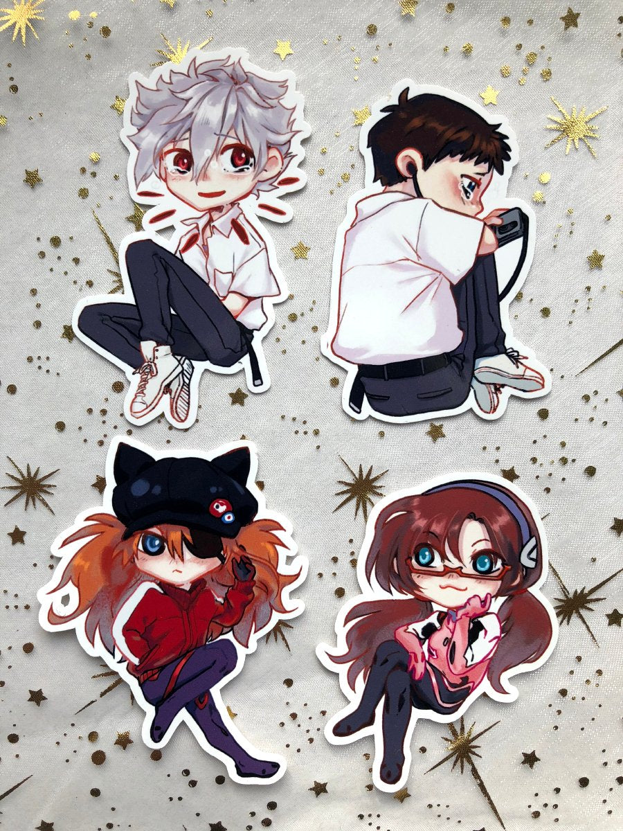 Eva Pilots | Stickers - Aurigae Art &Illustration