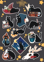 Load image into Gallery viewer, The Witch's Kitten | Stickersheet - Aurigae Art &Illustration
