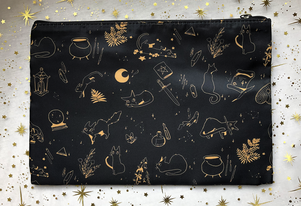 The Witch's Kitten | Cosmetic Bag - Aurigae Art &Illustration
