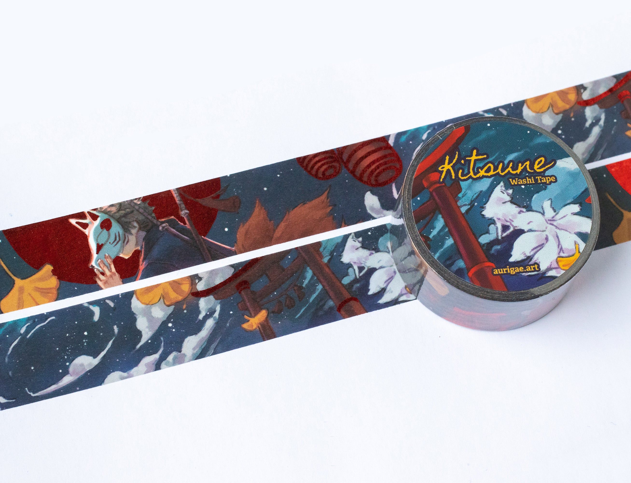 Kitsune | Washi Tape - Aurigae Art &Illustration