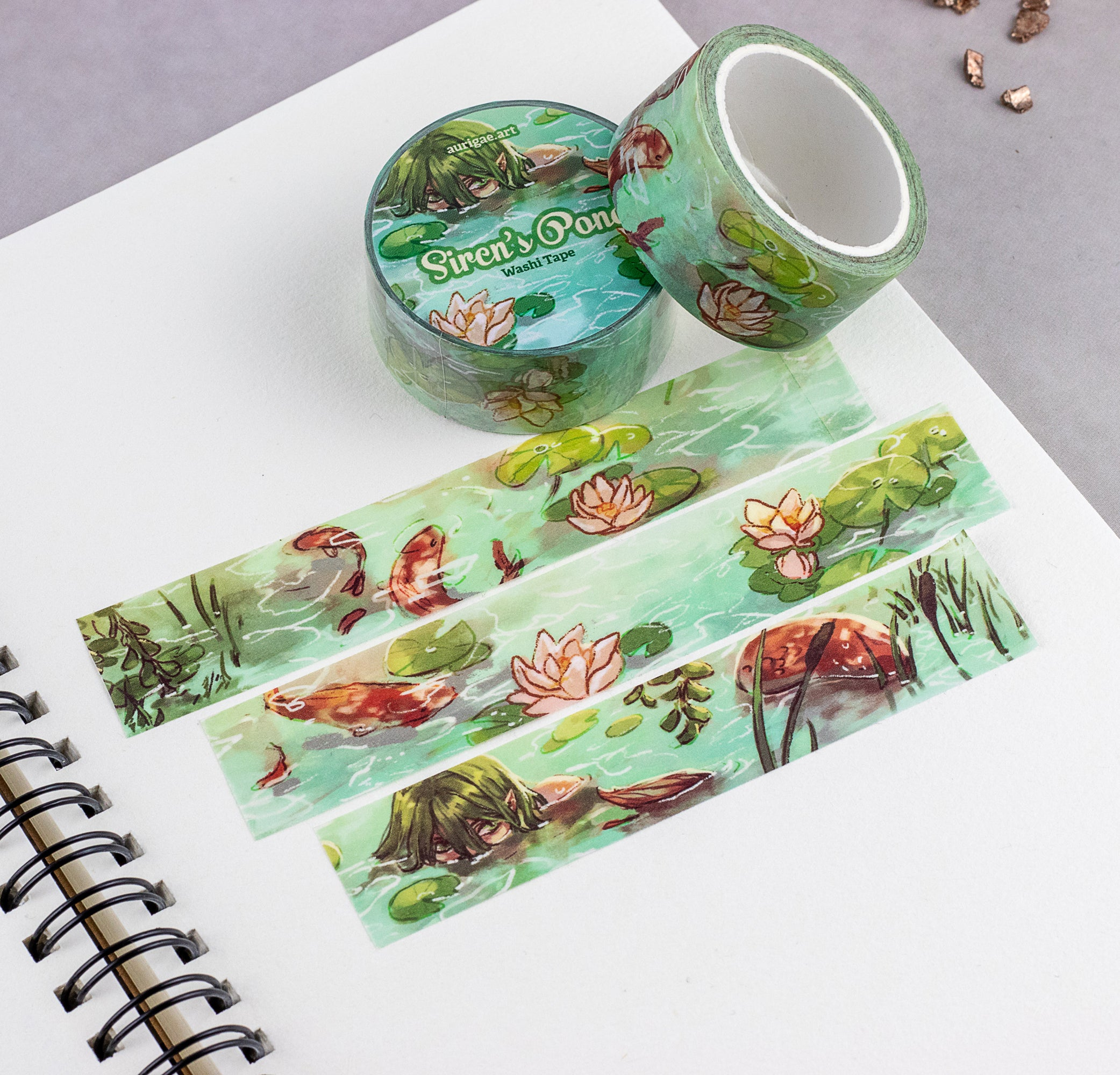 Siren's Pond | Washi Tape - Aurigae Art &Illustration