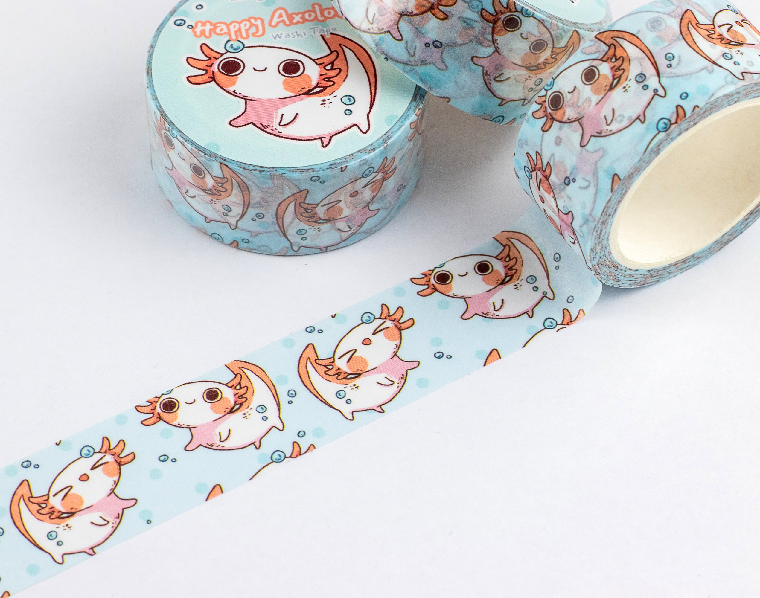 Happy Axolotl | Washi Tape - Aurigae Art &Illustration