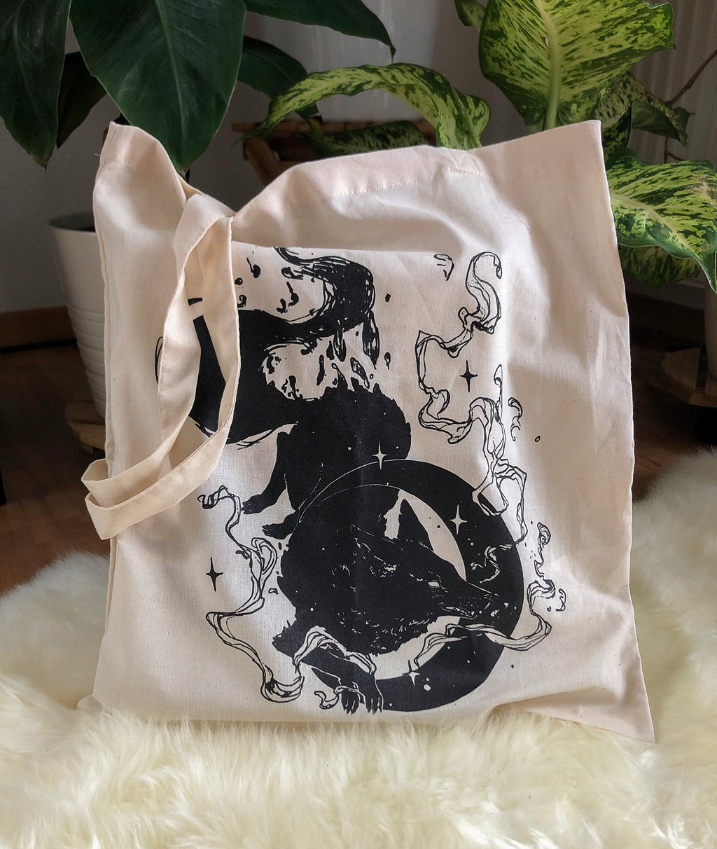 Mooneater | Tote Bag - Aurigae Art &Illustration