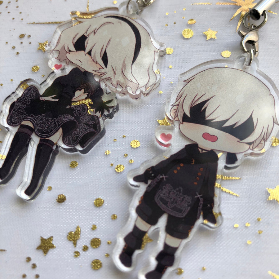 Nier:Automata 2B and 9S | Charms - Aurigae Art &Illustration