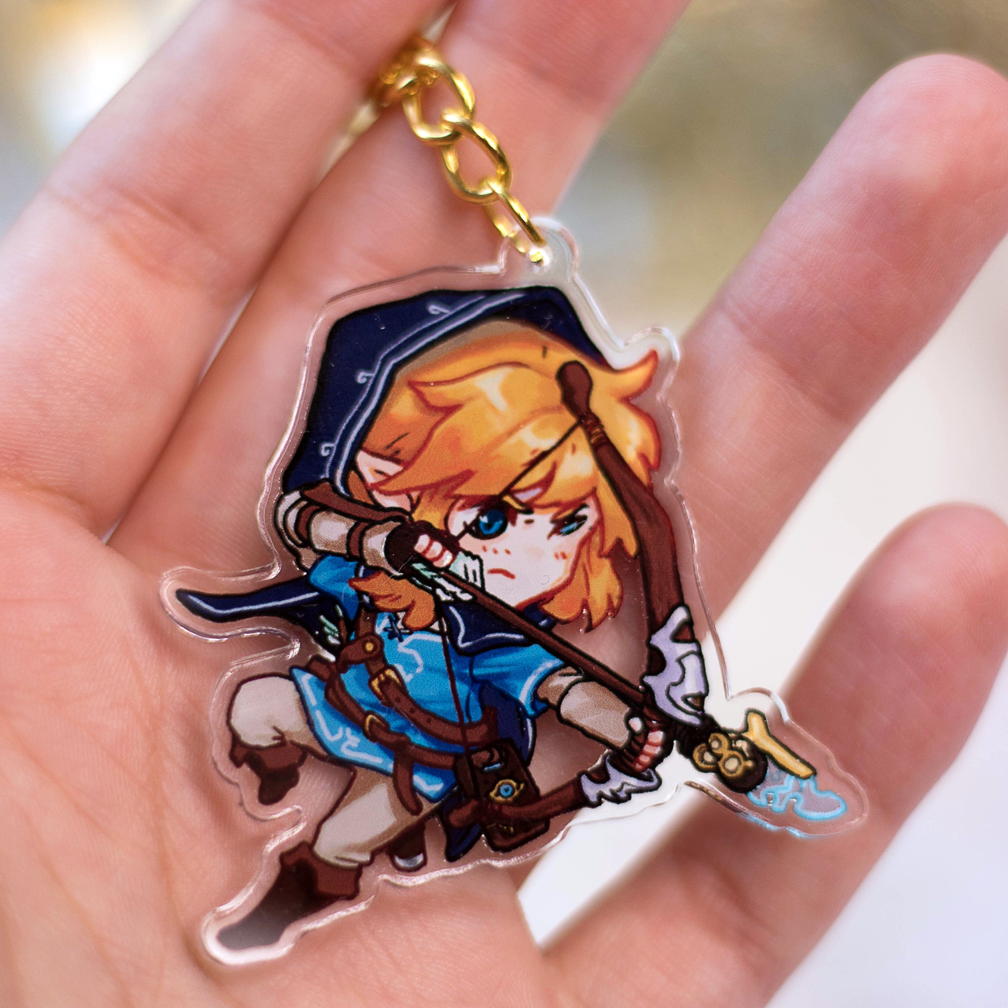 Legend of Zelda - Link with a bow | Charms - Aurigae Art &Illustration