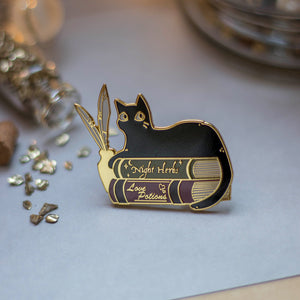 Comfy Books | Enamel Pin - Aurigae Art &Illustration