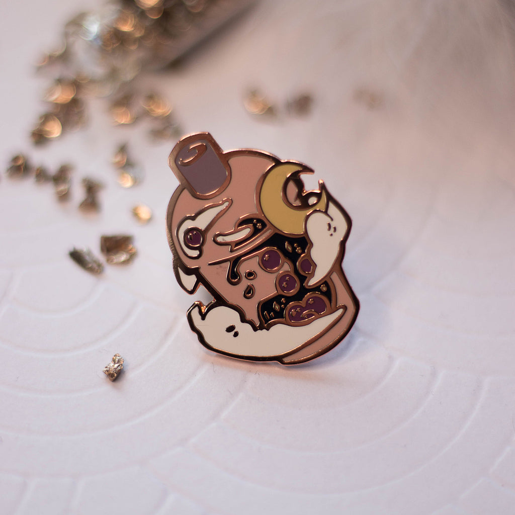 Sunset Bubbletea | Enamel Pin - Aurigae Art &Illustration