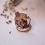 Load image into Gallery viewer, Sunset Bubbletea | Enamel Pin - Aurigae Art &Illustration