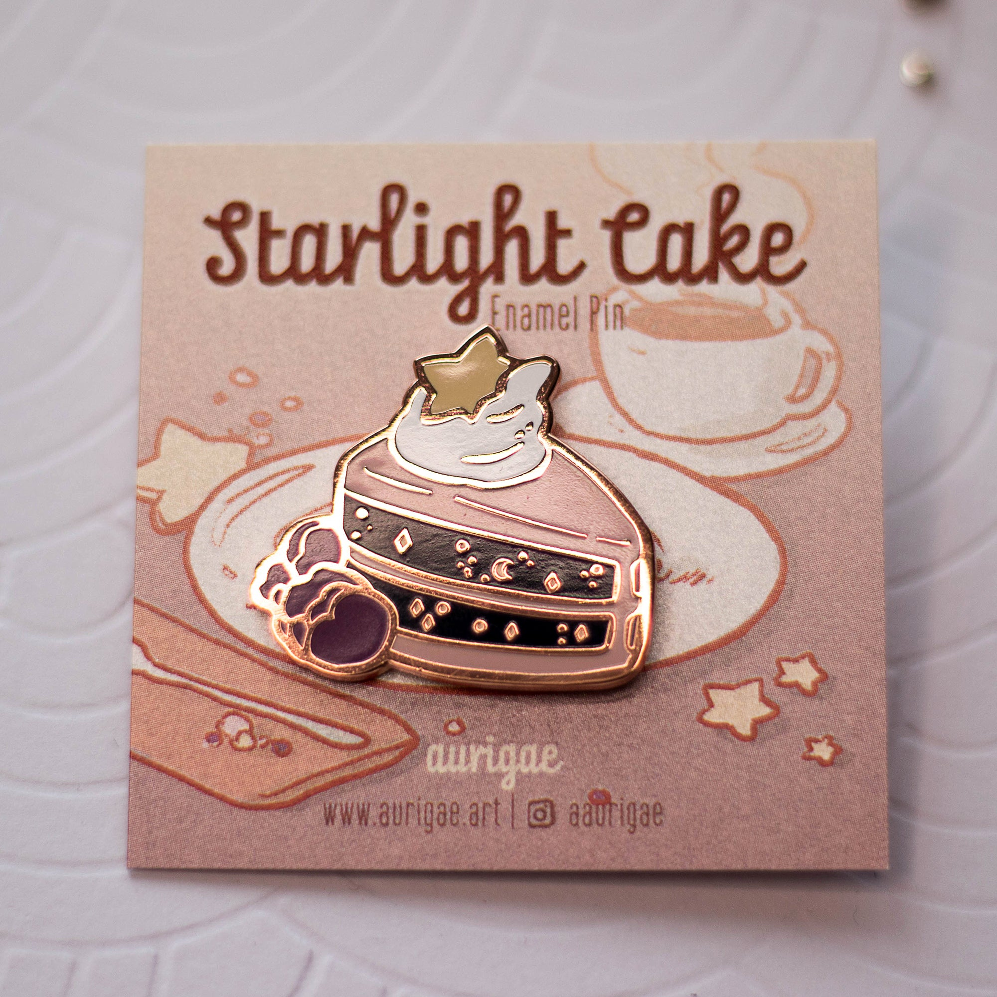 Starlight Cake | Enamel Pin - Aurigae Art &Illustration